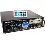 Amplificador 2 Ent.mic Usb Sd Rca Fm Karaoke 12v -220v Cjf
