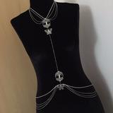 Biju De Corpo Bodychain (colar-cinto), Bijuteria Sexy, Prata