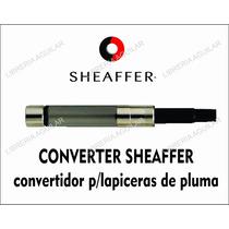 Convertidor Embolo P Lapicera A Fuente Sheaffer Original