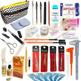 Kit Designer Sobrancelha Profissional Universal C/ 3 Hennas