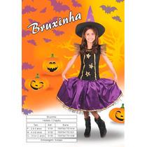 Fantasia Infantil Menina Bruxa Sidnyl Carnaval