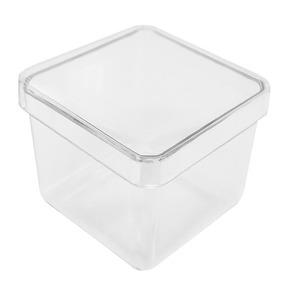 Caixa Acrílica 4x4cm Transparente - 12 Peças