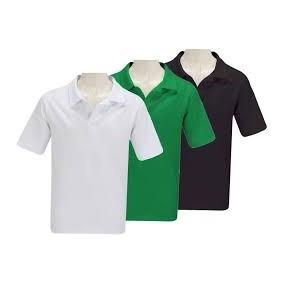 Camisa Gola Polo Lisa Malha Piquet Sem Bolso Com Botão/cores