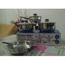 Bateria Cocina Set De Ollas Y Sarten Acero Inox Triple Fondo