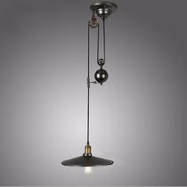 Lámpara Colgante Vintage Con Polea
