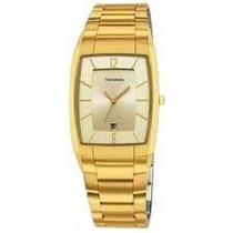 Relógio Technos Quadrado Dourado Original Gm10il Calendário