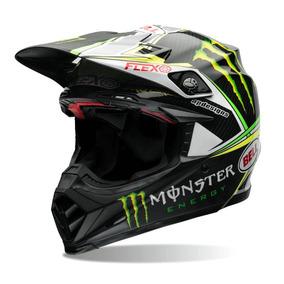 Capacete Bell Moto-9 Flex Monster+queixeira Extra 59/60 Rs1