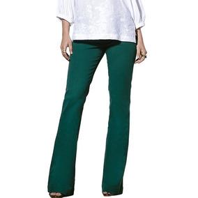 Calça Feminina Flare Verde Scalon Emilia Color 141040