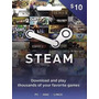 Steam Gift Card 10 Dolares