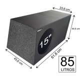 Caixa De Graves 1 X 15 Bravox E2k 900 Watts 85 L Pelego Box