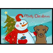 Muñeco De Nieve Con Chocolate Labrador Mat Interiores O Ext