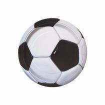 48 Platos Soccer 9 Pulgadas Desechables Carton