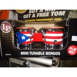 Mini Bongos Lp Afinable De Madera Lpm199 De Colección