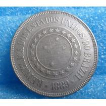 Linda Moeda 200 Réis 1889 - Cuproníquel S / F C - Adilpira