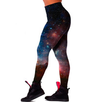 Calça Legging Academia Ginástica Musculação Galaxy Estilosa