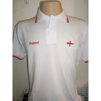 Camisa Polo Inglaterra England Bordada