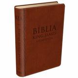 Bíblia De Estudo King James Atualizada - Cp Couro Marrom