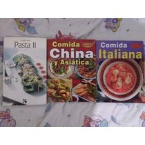 Recetas Libros De Comida Italiana, China Y Asiática, Y Otros