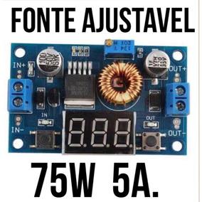 Conversor Dc-dc 5a-75w Fonte Ajustavel 1.25v-36v