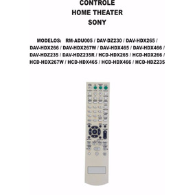Controle Remoto Home Theater Sony Rm-adu005 Dav-dz230 Dx266