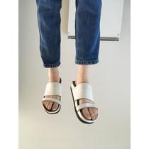 Sandalias Blancas Lupe Tipo Birkenstock - Únicas!