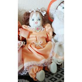 Bonecas De Porcelana 17cm