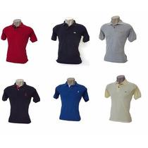 Kit 10 Pçs - Camisa Polo + Bermuda Sarja Grifes Famosas