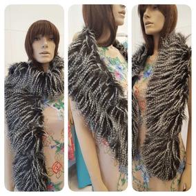 Estola De Pelos Para Vestido De Festa Imitação Animal Preto