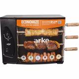 Churrasqueira À Gás Rotativa Com 3 Espetos Agr-03 Arke