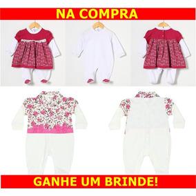 Kit Macacão Vestido Infantil Menina Bordô E Macacão Floral