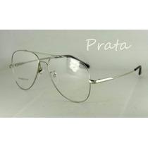 Armação Aviador P/ Óculos De Grau Em Titânio Memory