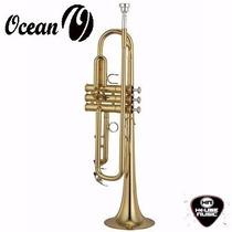 Trompeta De Estudio Ocean Otr190 Dorada+estuche Housemusic