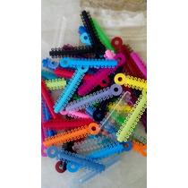 Ligas Para Brackets Bolsa Con 50 Tiras Colores Surtidos