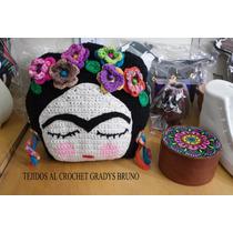 Almohadon Tejido Al Crochet Frida Kahlo