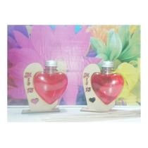 Souvenir Difusor Corazón X 105 Unid Con Un Grabado Simple