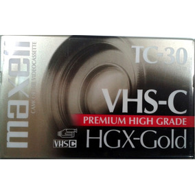 Cassette Video Vhs-c Maxell Tc-30 Hgx-gold