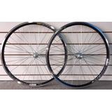 Par Rodas Bicicleta Parede Dupla Aero Vzan Aro 26 Novas