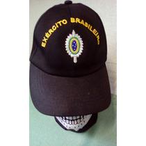 Boné Preto Com Bordado Exército Brasileiro