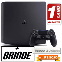 Ps4 Playstation 4 Slim Sony 500gb Novo Lacrado + Brinde