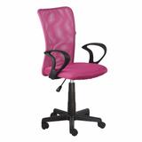 Cadeira Escritorio Lost Secretaria Rosa Giratoria + Nf