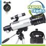 Telescopio 400x70 Refractor Galileo Con Tripode Y Brújula