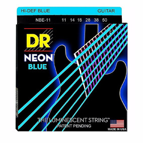 Cordas Dr String Neon Blue Colorid Guitarra Eletrica 011-050