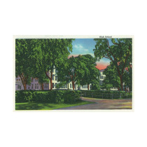 Exterior View Of The High School And Grounds Print, 24 X36