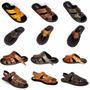 Sandália Masculina Preço Fabrica 100% Couro Promoção Shoes