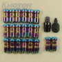 New Neo Chrome Jdm Extended Dust Cap Steel Lug Nuts Wheel