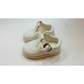 Zapato Guillermina Chatita De Nena Blanco Para Bautismo
