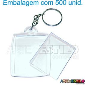 Chaveiro Porta Foto De Acrilico P/ Foto 3x4 - Emb Com 500 Un