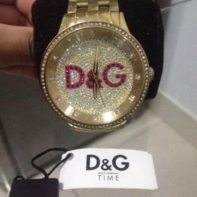 Relógio D&g Dolce & Gabbana Dourado Luxo Ref:dw0377 - Neymar