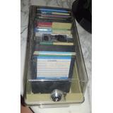 Lote X 3 Cajas Acrilicas Porta Diskettes La Grande Con Llave