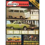 Quatro Rodas Nº143 Junho 1972 Dodge Dart Se Corcel Belina